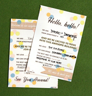 Perforated Welcome neighbor card image