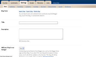 cara setting blog