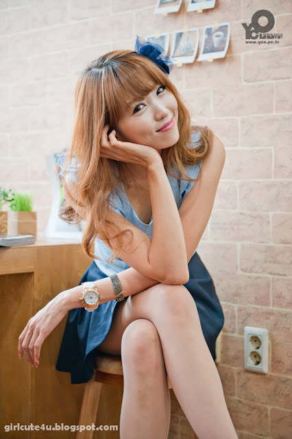 8 Lee Eun Hye in Blue-very cute asian girl-girlcute4u.blogspot.com