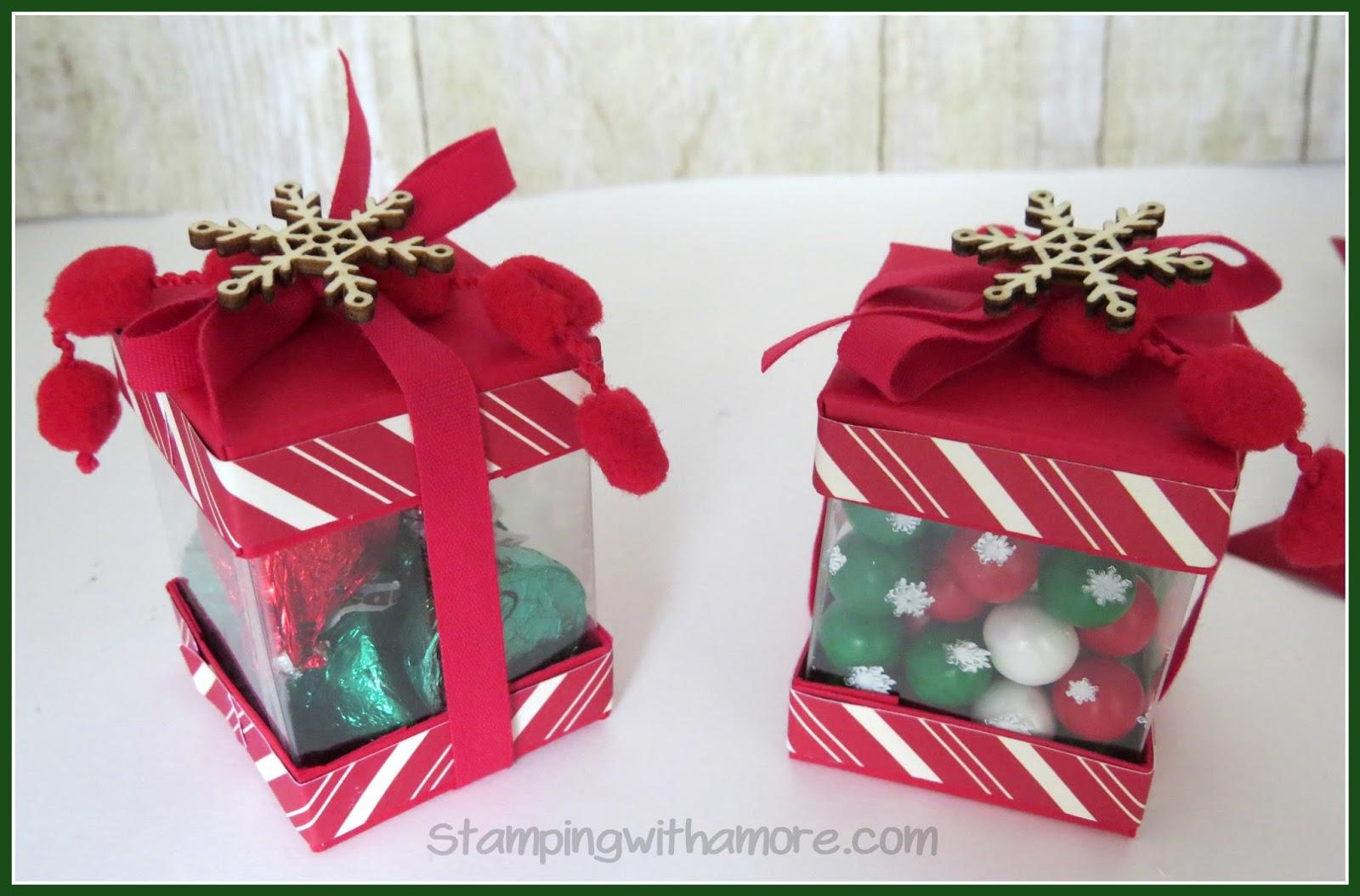 Stampingwithamore mini view thru christmas treat box