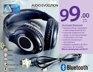Słuchawki Bluetooth Audio Evolution By Calisia z Biedronki ulotka