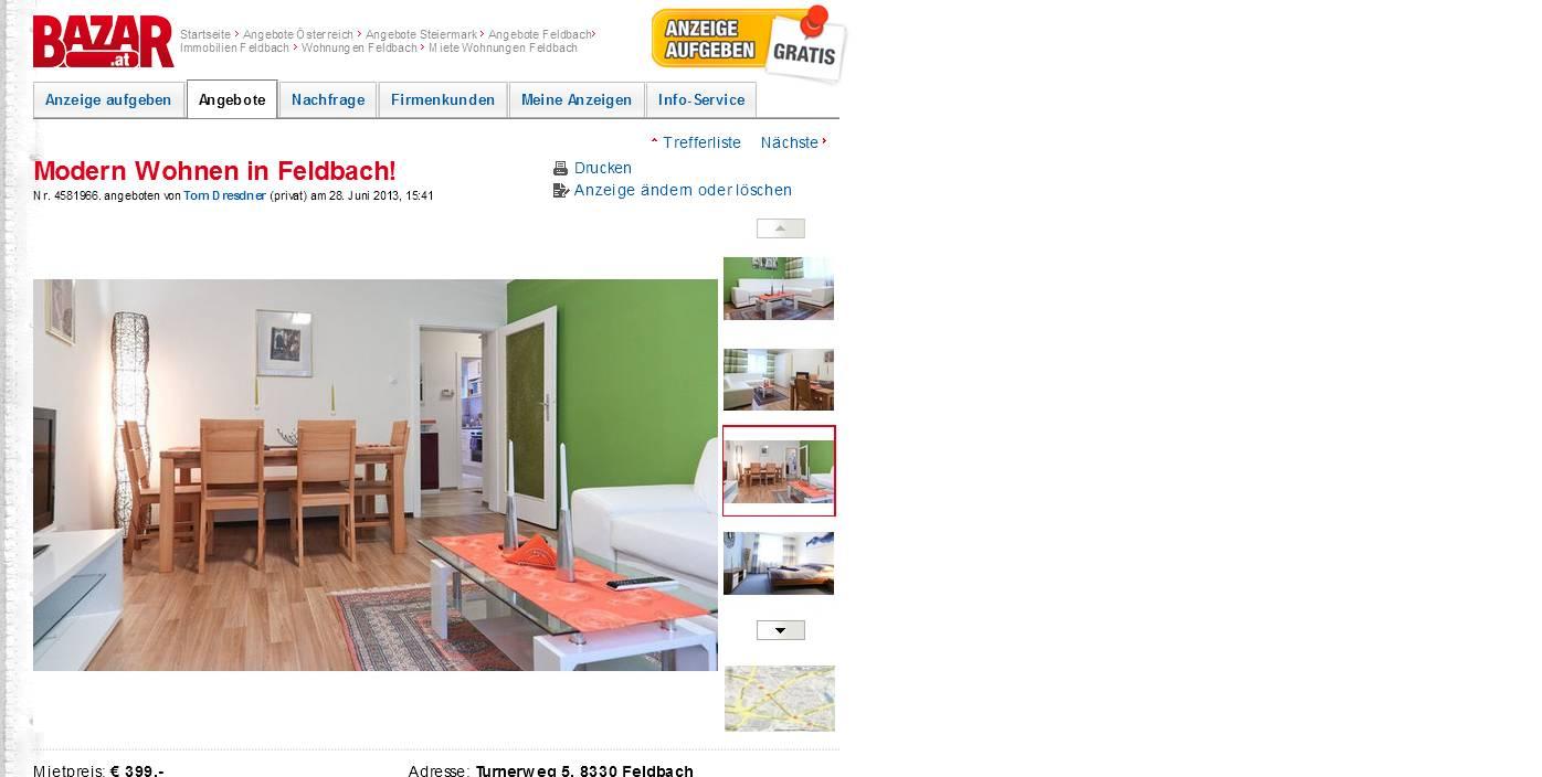 modern wohnen in feldbach. Black Bedroom Furniture Sets. Home Design Ideas