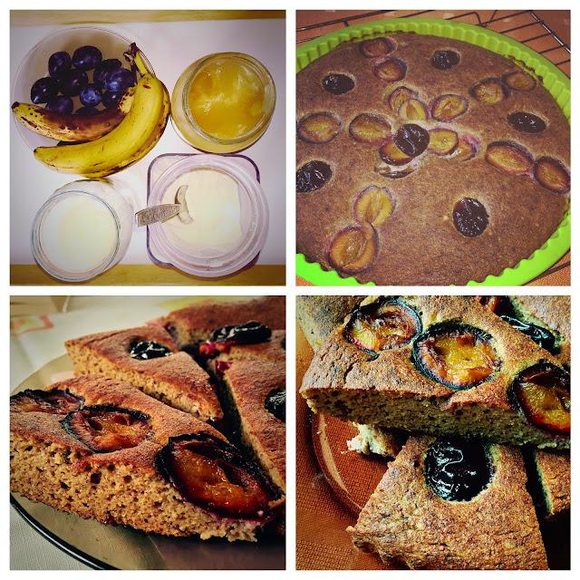 proste | ciasto bananowe | słodzone bananami | śliwki | mąka kokosowa | szybkie ciasto | paleo słodycze | paleo wypieki