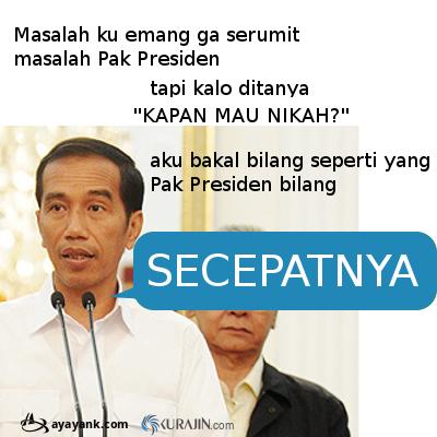 DP Meme BBM Jokowi, Galau Nikah