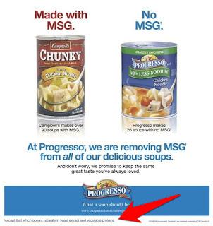 Muchas sopas enlatadas son con sabor a MSG, incluso cuando ellos dicen que no lo son.
