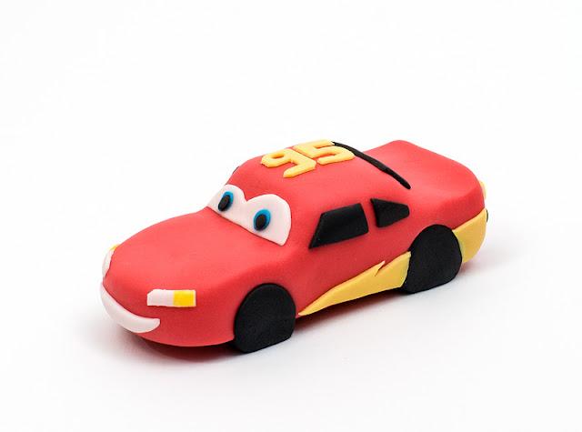 Cars fondant Lightning McQueen cake figurine