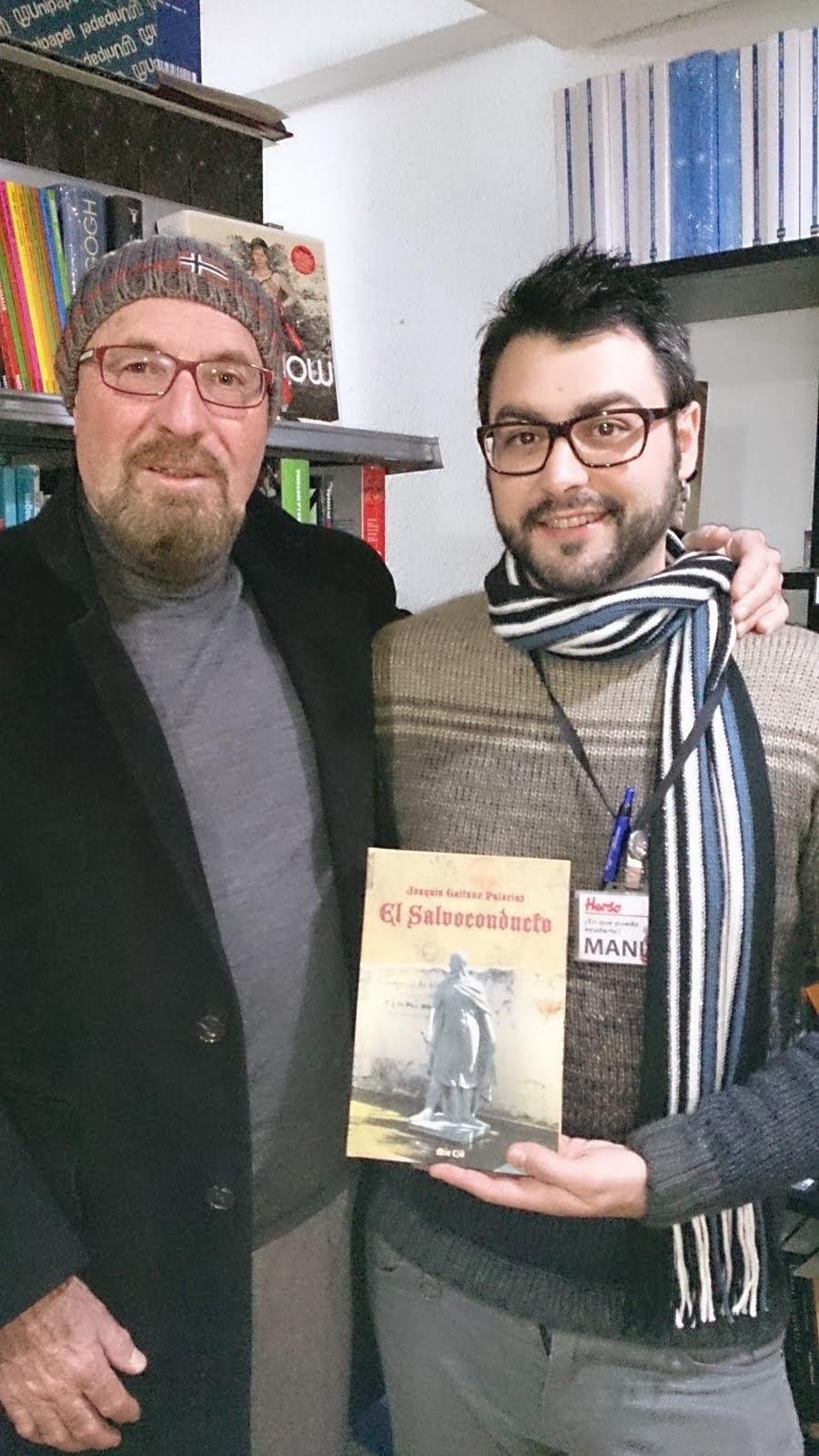Con Manuel. Librería Herso, Albacete.