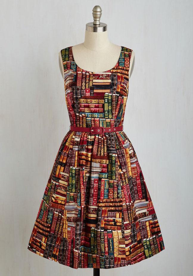 Book Cover Watercolor Dress : The frivolous bibliophile modcloth archive got power