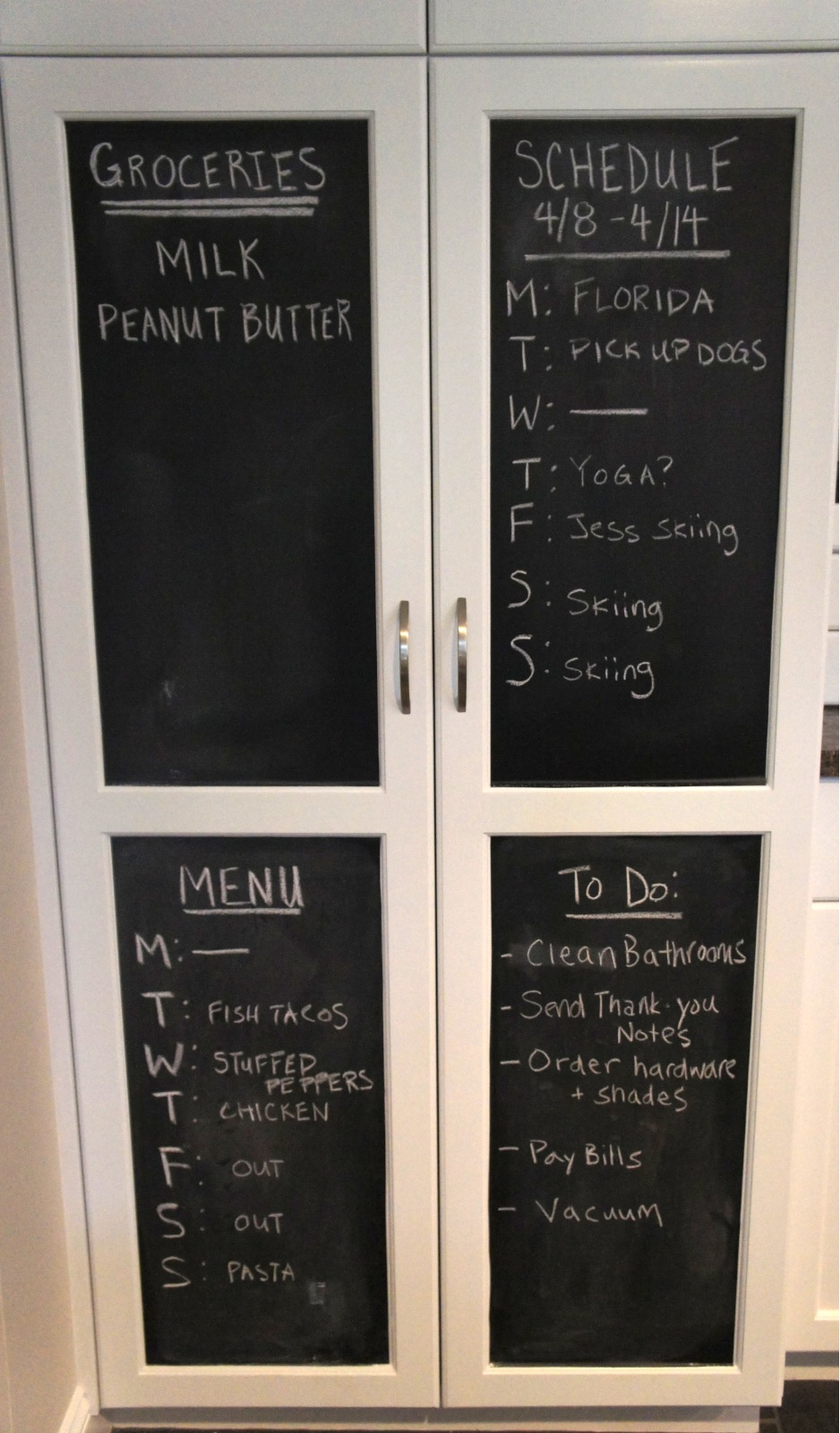 Home with baxter kitchen chalkboard for Kitchen chalkboard