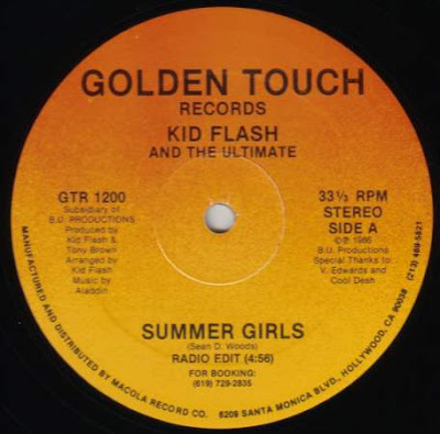 "Kid Flash & The Ultimate ‎– Summer Girls (1986, 256, 12"")"