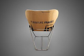 Sillas de Cartón Reutilizado, Muebles Ecoresponsables