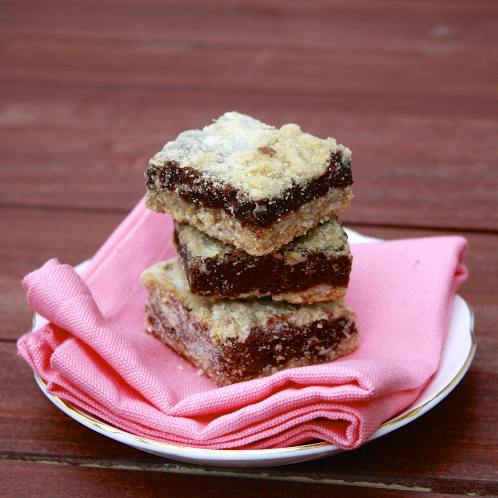 Oatmeal Brownie Bars | The Sweets Life
