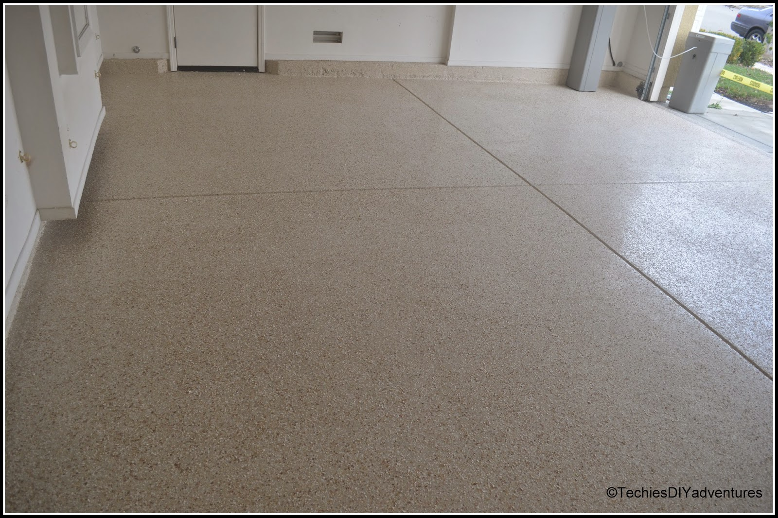 Epoxy Paint Chips : Garage floor gets a makeover with epoxy techie s diy