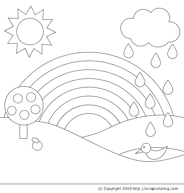 Coloring pages for kids rainbow coloring pages for Rainbow templates to colour