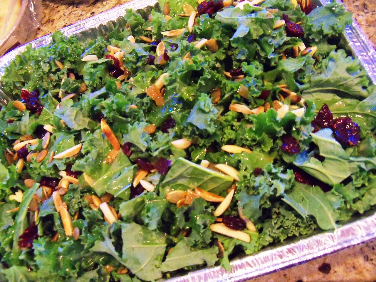 recipe: kale salad with cranberries and pumpkin seeds [19]