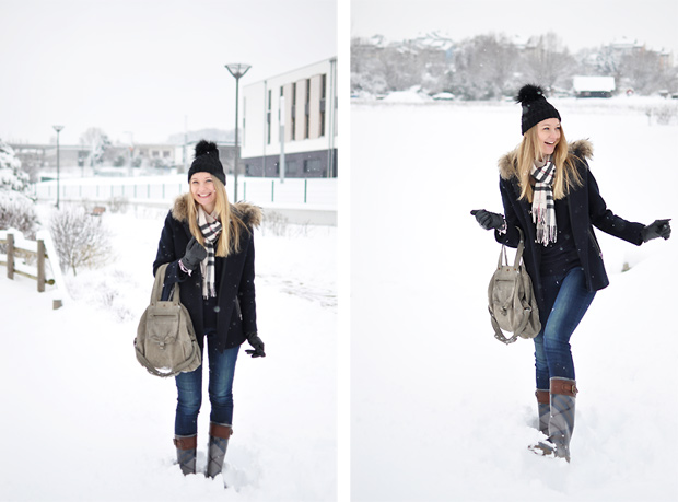 tenue pour la neige blog mode echarpe burberry manteau madeleine sandro billy dreyfuss