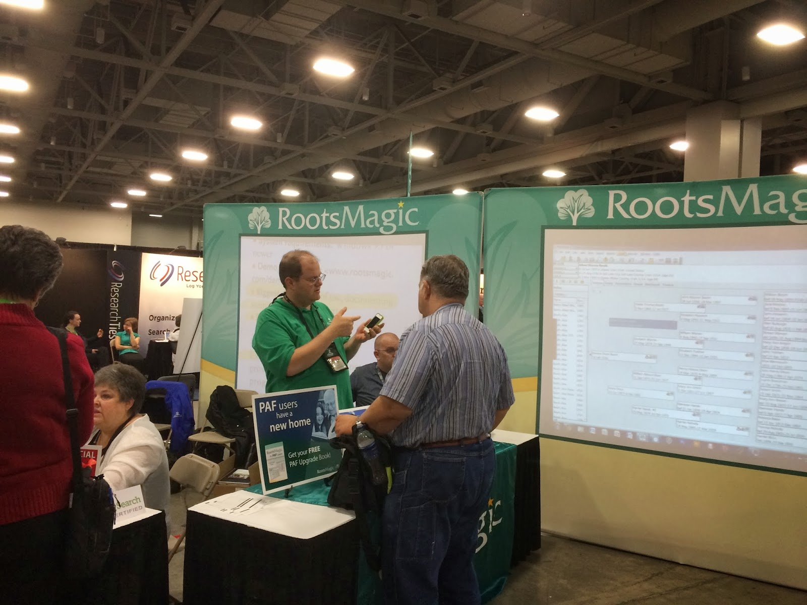 RootsMagic Display in Expo Hall