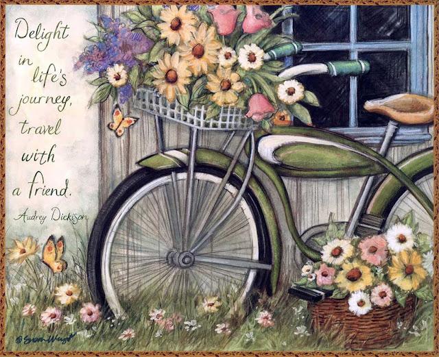 bisiklet temalı dekupaj resmi