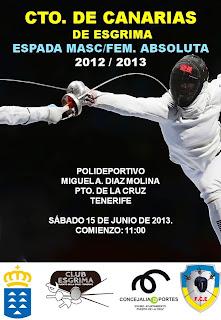 CTO. de Canarias de espada deportiva