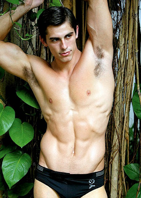 Man's Hairy Armpits in the Woods