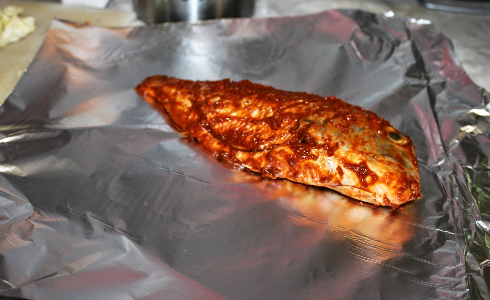 Quick picks my cooki e blog tangy grilled fish roast for Grill fish in foil