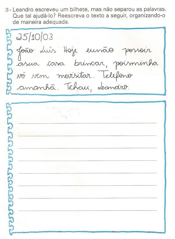 """Centro M. E. B. I. """"Carlos Drummond de Andrade"""": Bilhetes"""