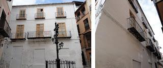 edificio histórico en ruina, plaza San Juan de Dios 3 esquina calle Mártires 17