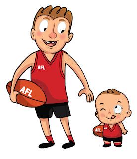 Papa e hijo haciendo deporte