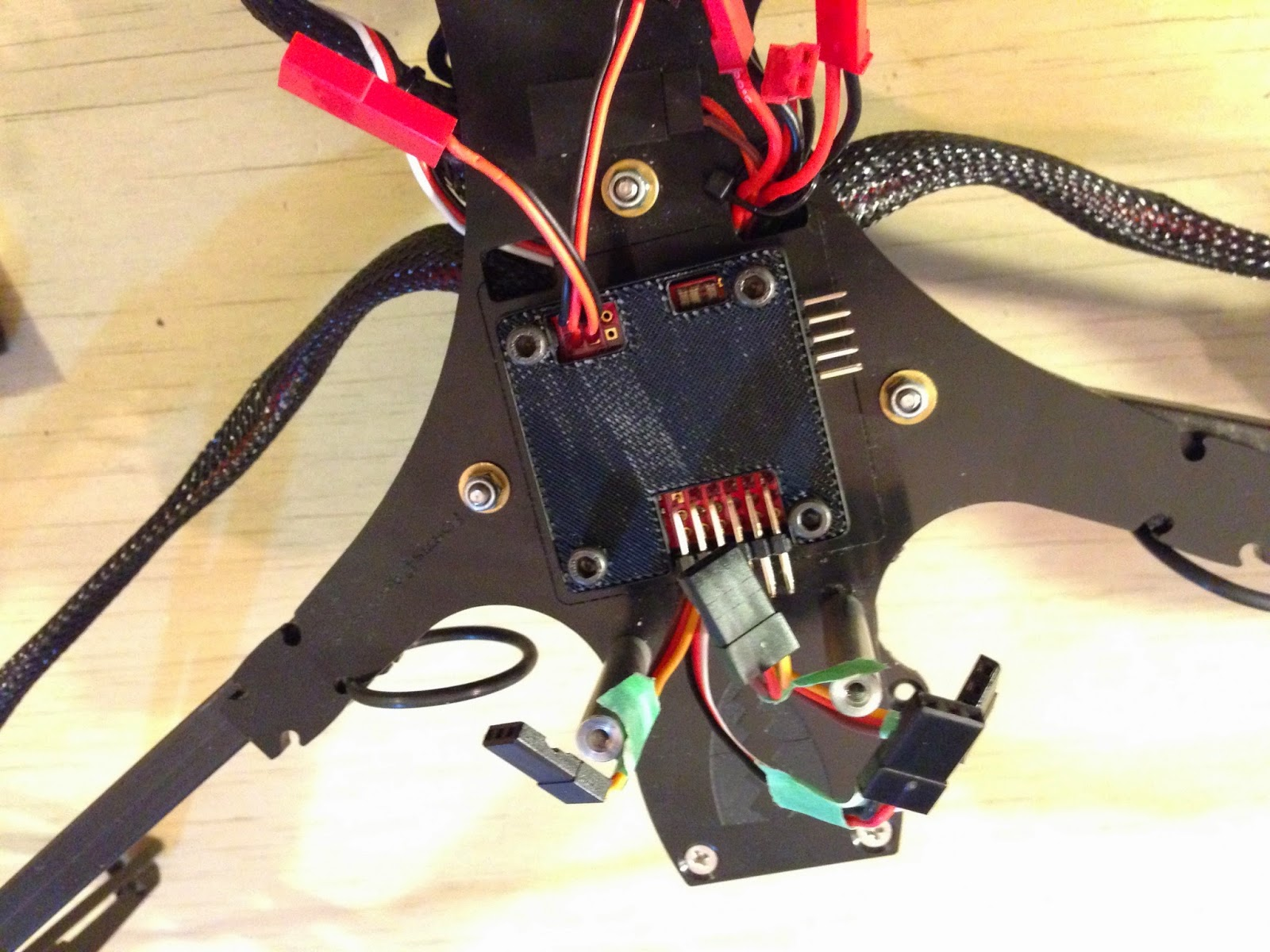 Bluefish August 2014 Tricopter Wiring Kk Board 3d Printed Battery Holder Land Gear For Fortis
