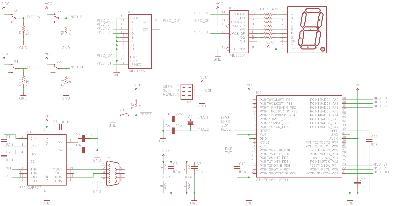 Blog Shift Registers Register Circuit Diagram I Didnt Want To Have Worry About Microcontroller Constraints Ram Size Etc And Wanted Concentrate On The