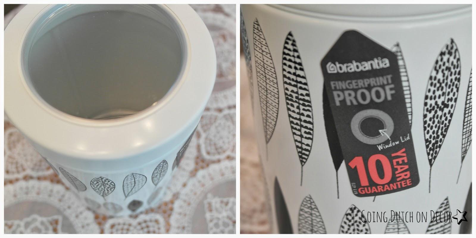 vensterdeksel Brabantia fingerprint proof vingerafdruk