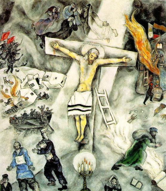 Chagall, La Crocifissione bianca dans immagini sacre
