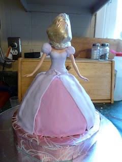 Fondant doll cake