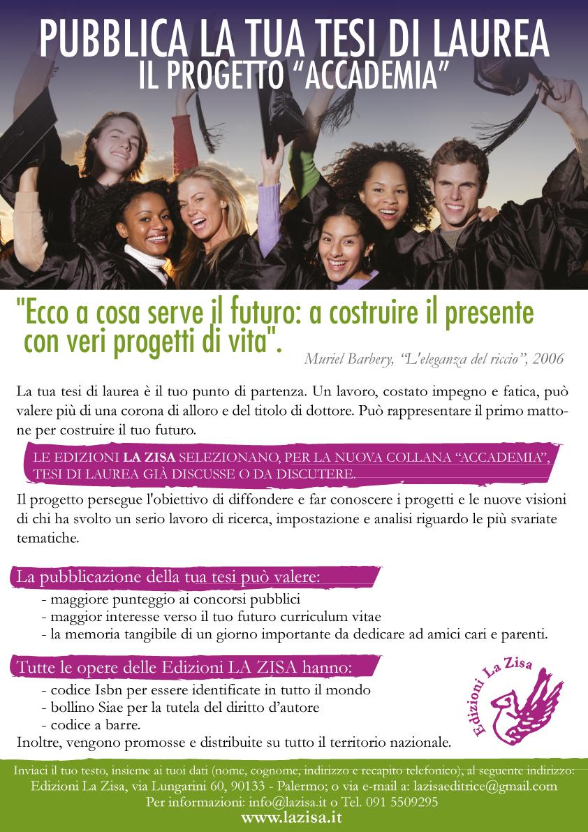 Edizioni La Zisa Pro To Accademia La Tesi Di Laurea Pu²