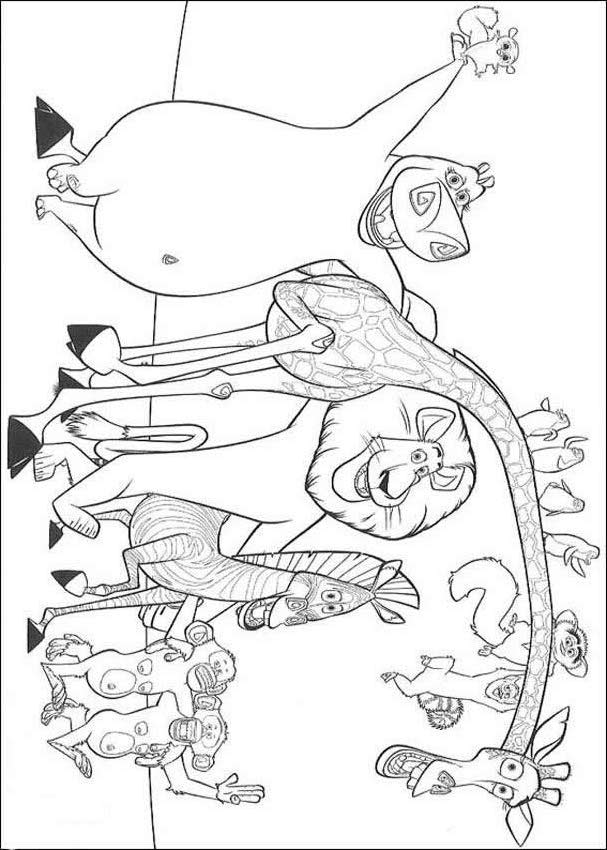 madagascar movie characters coloring pages - photo #22