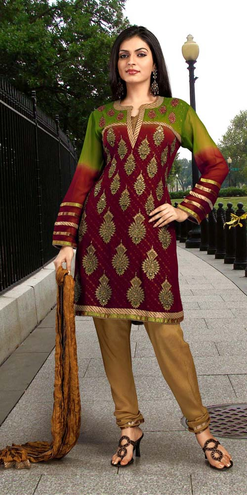 Hairstyles For Short Hair On Salwar Suits : Cool Hairstyles: casual salwar kameez 2011