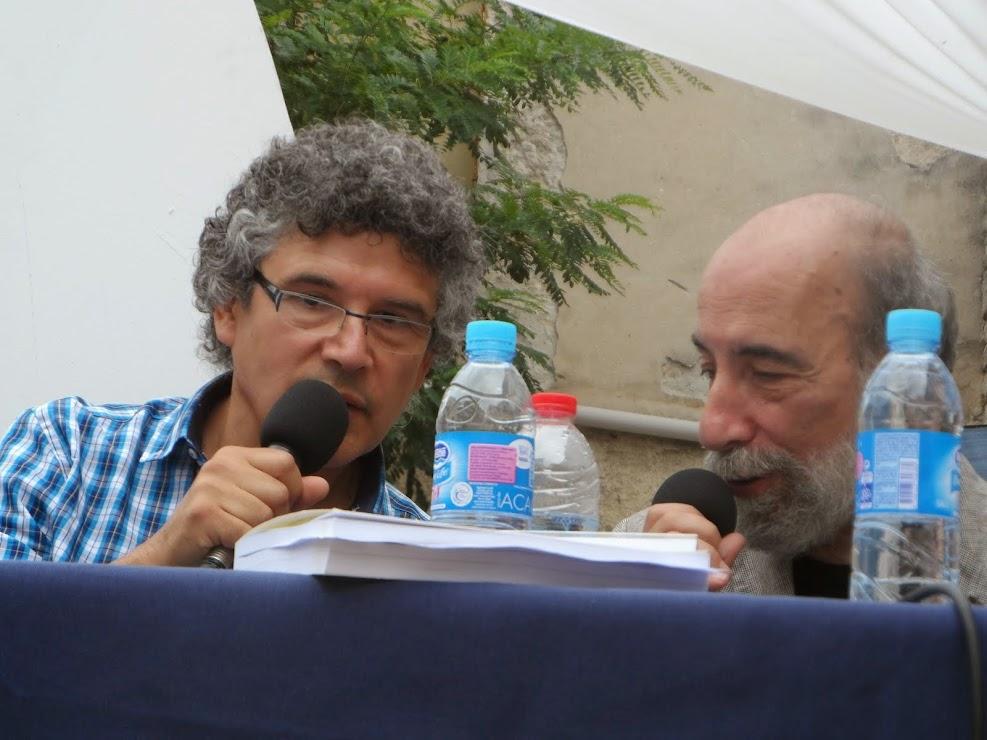 PATRICIO SANCHEZ  - RAUL ZURITA - FESTIVAL DE POESIE SETE - FRANCE - JUILLET 2014 -