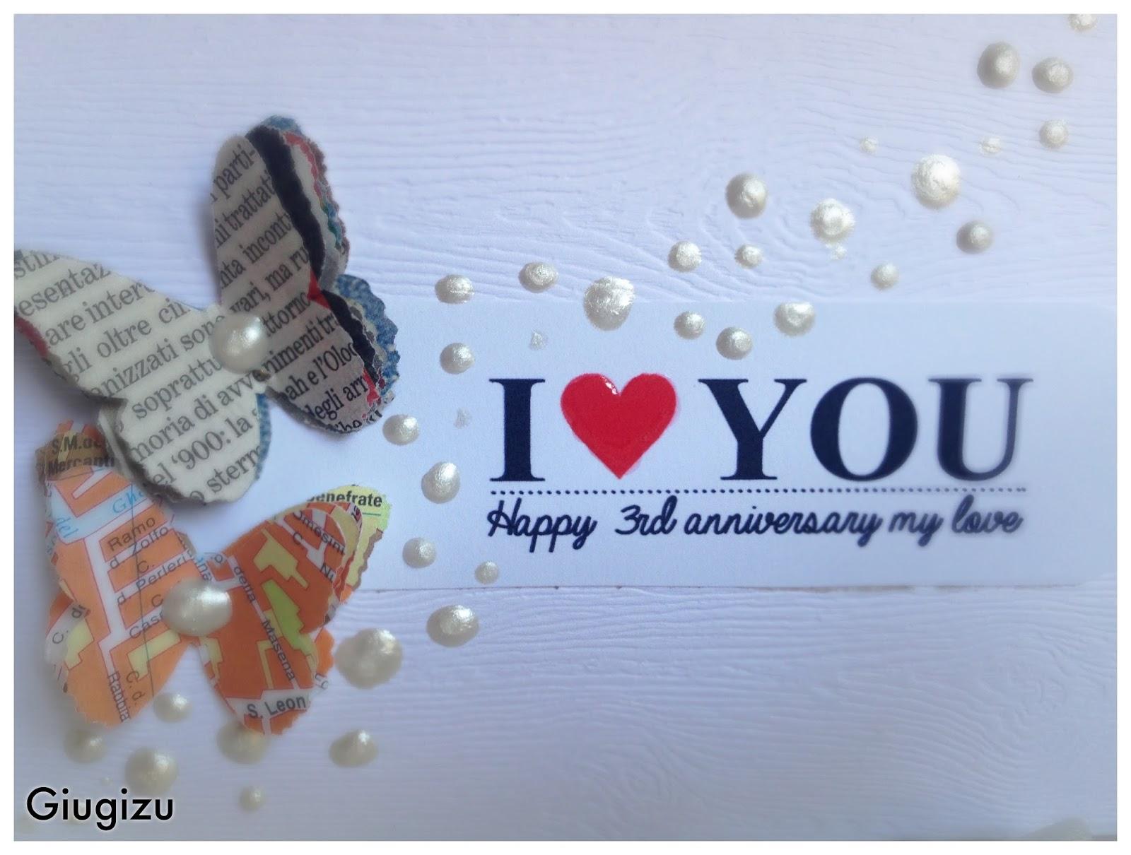 Favorito Giugizu's corner: Handmade wedding anniversary card - Biglietto  AX87