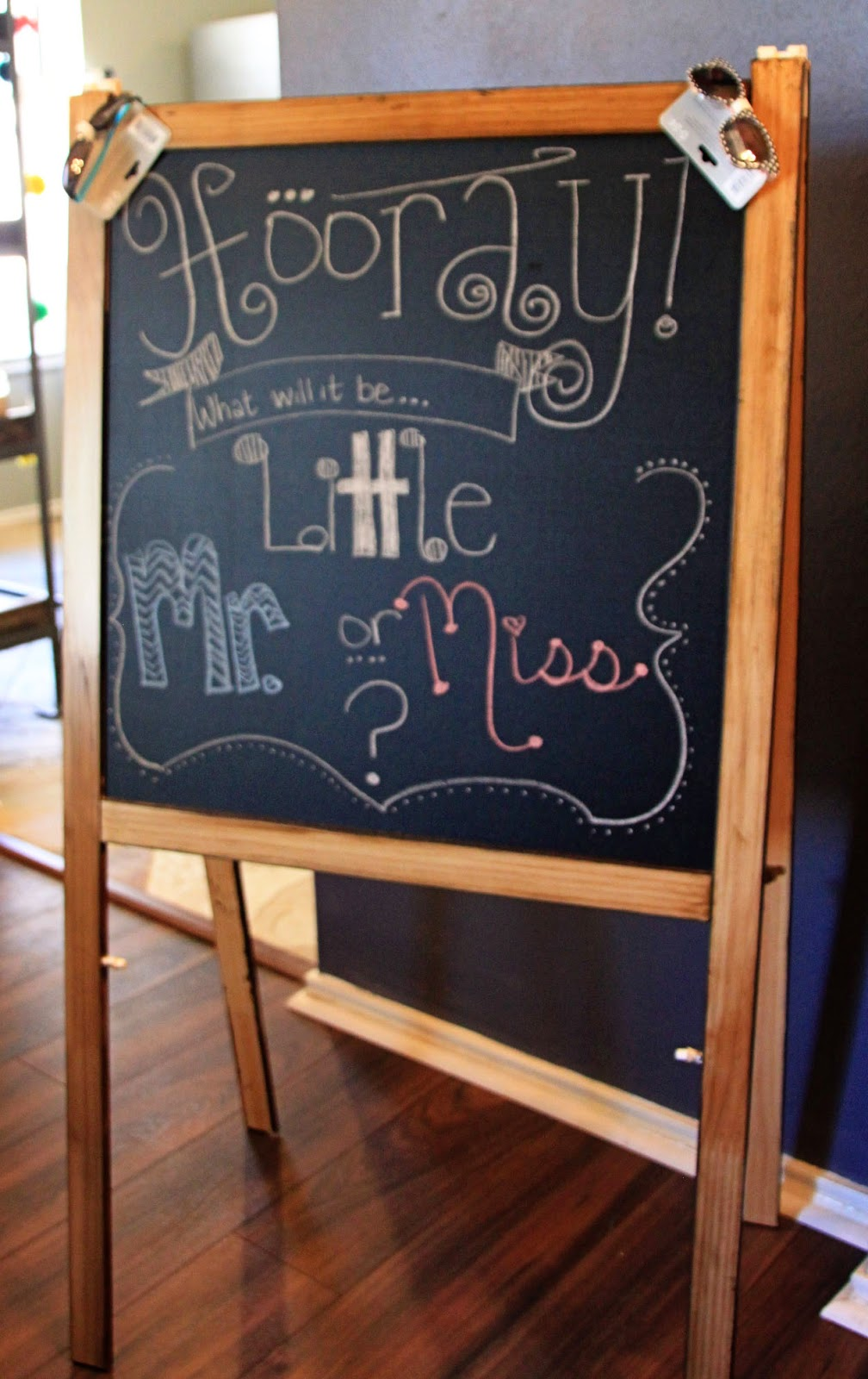 Gender Reveal Chalk Board