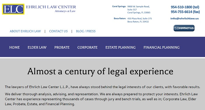 Richard Ehrlich, Attorney at Law, Florida