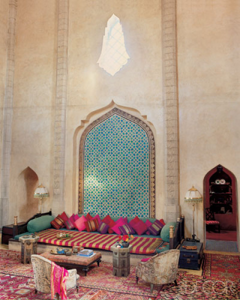 Morocco design elle decor 39 s lookbook moroccan interior for Moroccan living room ideas