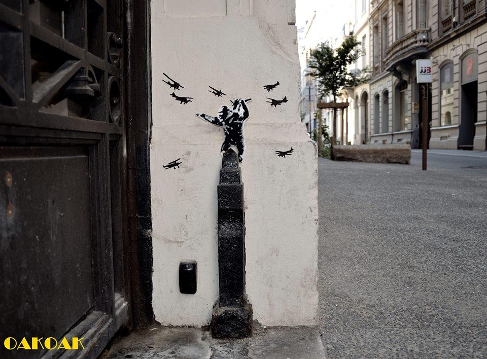 nuncalosabre.Street Art - OaKoAk