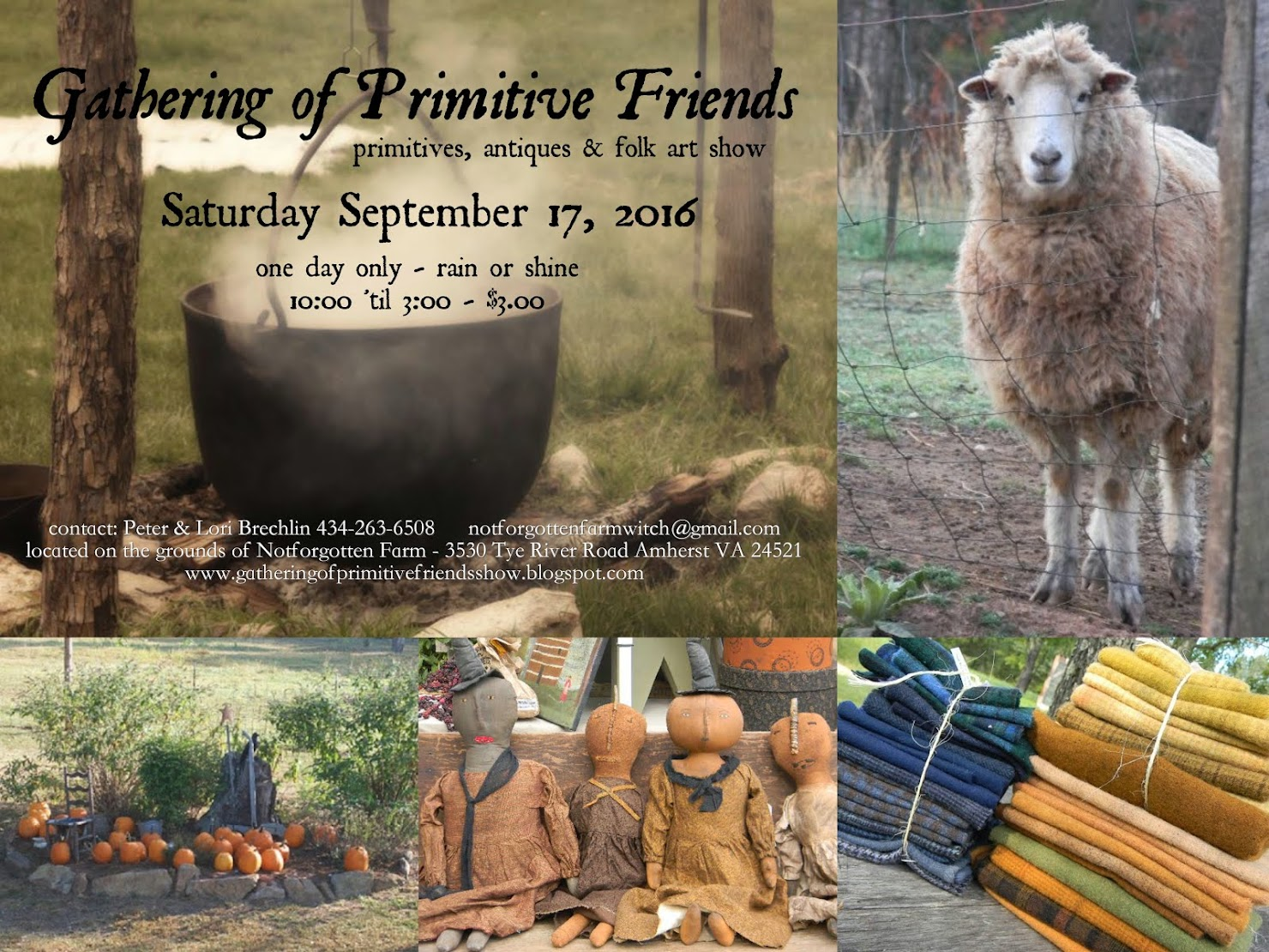 the Gathering of Primitive Friends Show at Notforgotten Farm