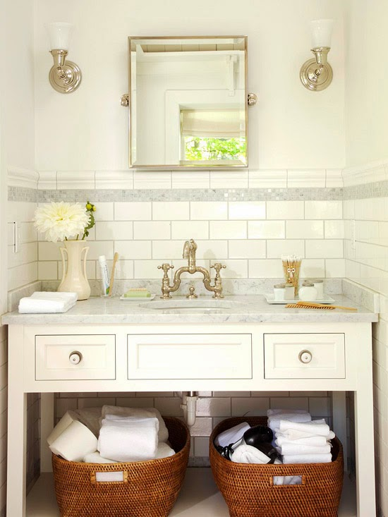 Small Bathroom Solutions Endearing Of Small Bathroom with White Subway Tile Photo