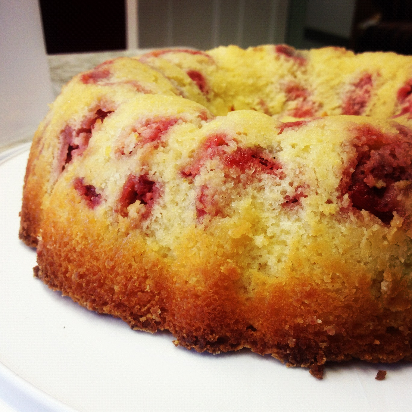 Strawberry Lemon Pound Cake From Scratch