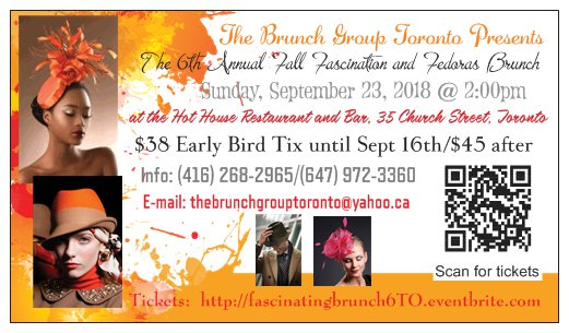 Join The Brunch Group Toronto for The 6th Annual Fall Fascination and Fedoras Brunch on Sun Sept 23