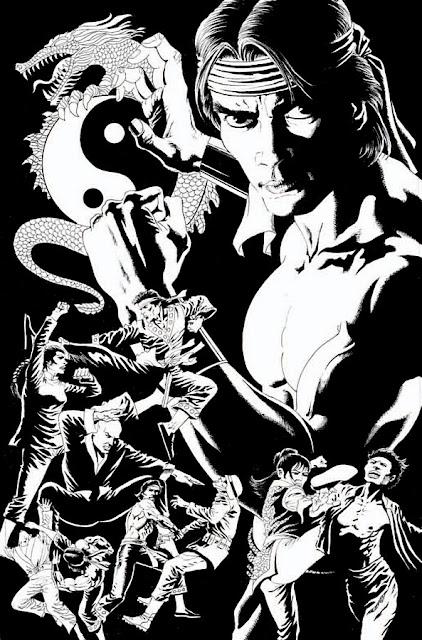 Dibujo Shang-Chi Master of Kung Fu por Paul Gulacy