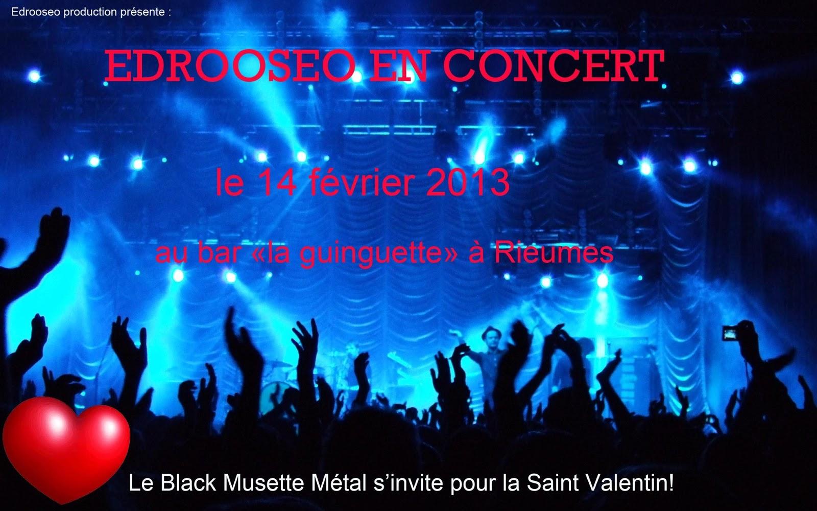 Edrooseo en concert pour la Saint Valentin
