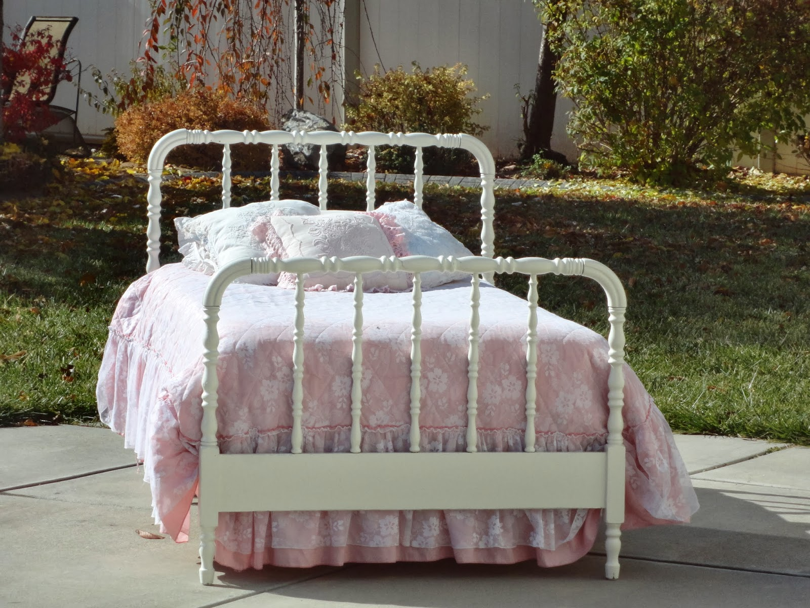 Perfect It is twin size and stands tall on the headboard and tall on the footboard Comes with wood side rails Classic style that fits all ages