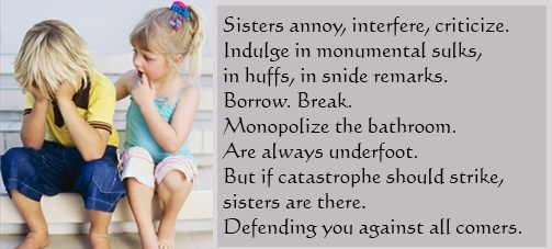 Quotes About Sisters Leaving : What does your sister mean to you paper